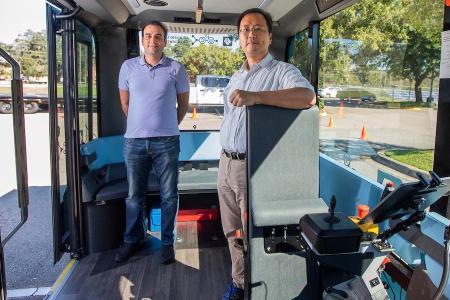 Jung and Seyedi in Autonomous Bus